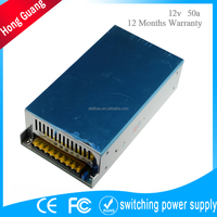 100 240v ce rohs smps 12 volt 50a ac dc cctv switching power supply