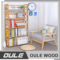 2018 Newest Design Top Quality Simple Bamboo Wooden Bookshelf