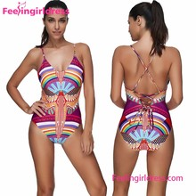 Best Selling Multiple Colour Sling Women One Piece Sexy Neoprene Swimsuit