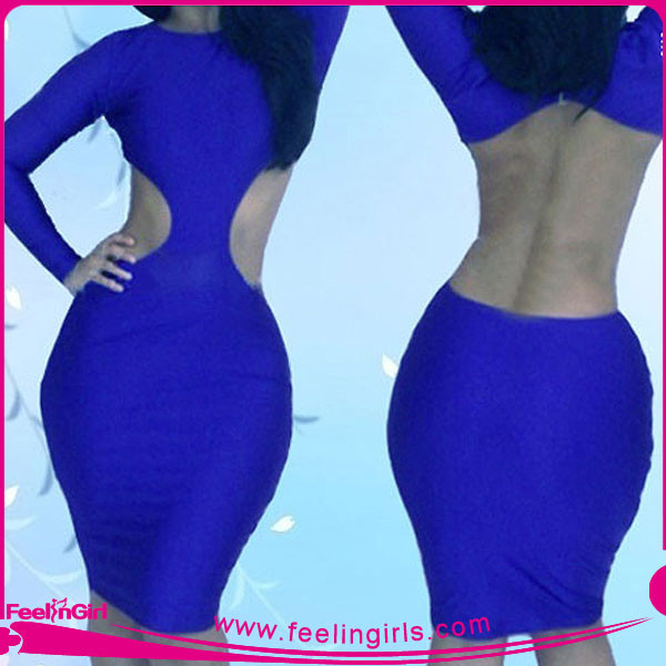 Wholesale Erotic Charming Purple Bodycon Dresses Knee Length