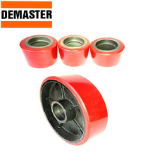 Rubber PU nylon 160mm 180mm 200mm wheels for hand pallet truck jack without bearing