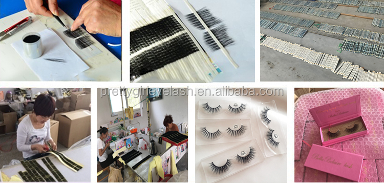 100% hand-made 3D Mink Fur Own Brand Eyelashes