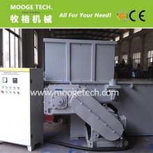 Plastic recycling single shaft shredder machine for PVC thick pipe
