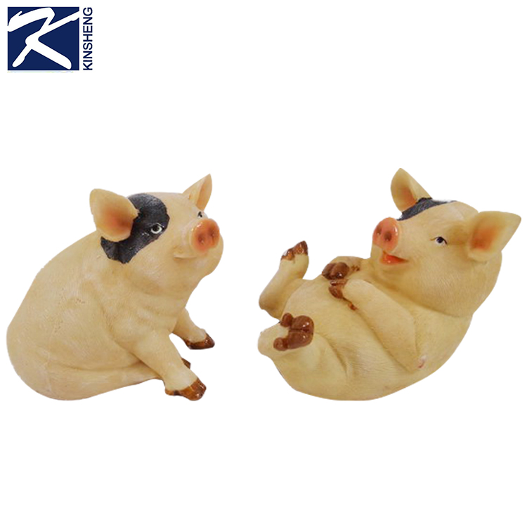 Wholesale custom resin lovely innovative handmade pig shaped folk crafts