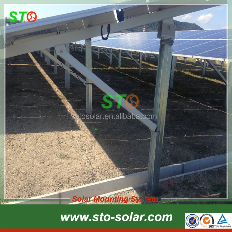 Using Ground Screw Pile Anchors Piling Ground Solar PV Mounts