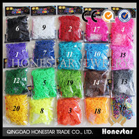 DIY cheaper rubber loom band 600pcs loom bands wholesale