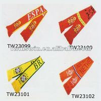 2012 New Arrvial Fashion Football scarf polyester scarf