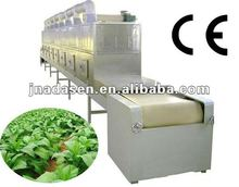 Conveyor belt microwave tobacco leaves dryer and sterilizer