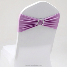 Fashion chair sash bands spandex stretch lycra chair covers sashes bows with diamond ring for weddings decoration