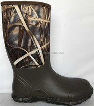 High Quality Waterproof Men Camo Rubber Hunting Neoprene Boots