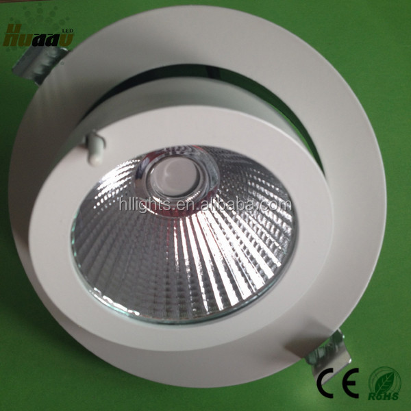 ip44 high power adjustable 10w cree cob led downlight