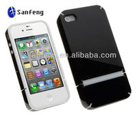2013 New brand plastic cellphone phone case for iphone4 4s PC +TPU for back cover iphone 4