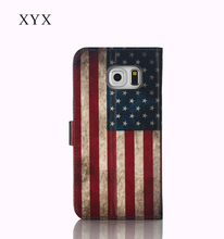 stand function painting flag for Nokia Lumia 1520 flip leather case