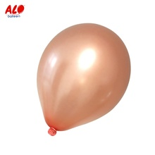 Party Decoration <strong>12</strong> inch Rose Gold Metallic Latex Helium Balloon