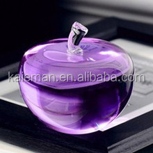 New design crystal apple for wedding decorate or souvenir gifts blank crystal apple