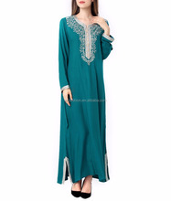 Muslim women Long sleeve Dubai Dress maxi abaya jalabiya islamic women dress clothing robe kaftan Moroccan fashion embroidey