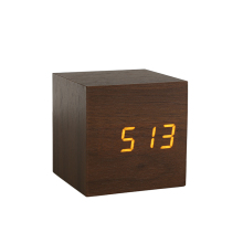 Voice control luxury decorative colorful led alarm clock