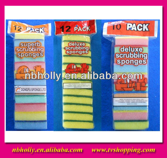 84663 84666 Scrubbing cleaning cheap sponges/kitchen scouring pad