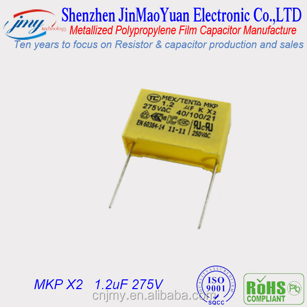 1.2uF 275V MKP X2 Polypropylene Film Capacitors