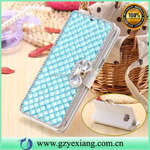 Nice Bling Bling Diamond Light Up Case For Iphone 5C Leather Flip Case