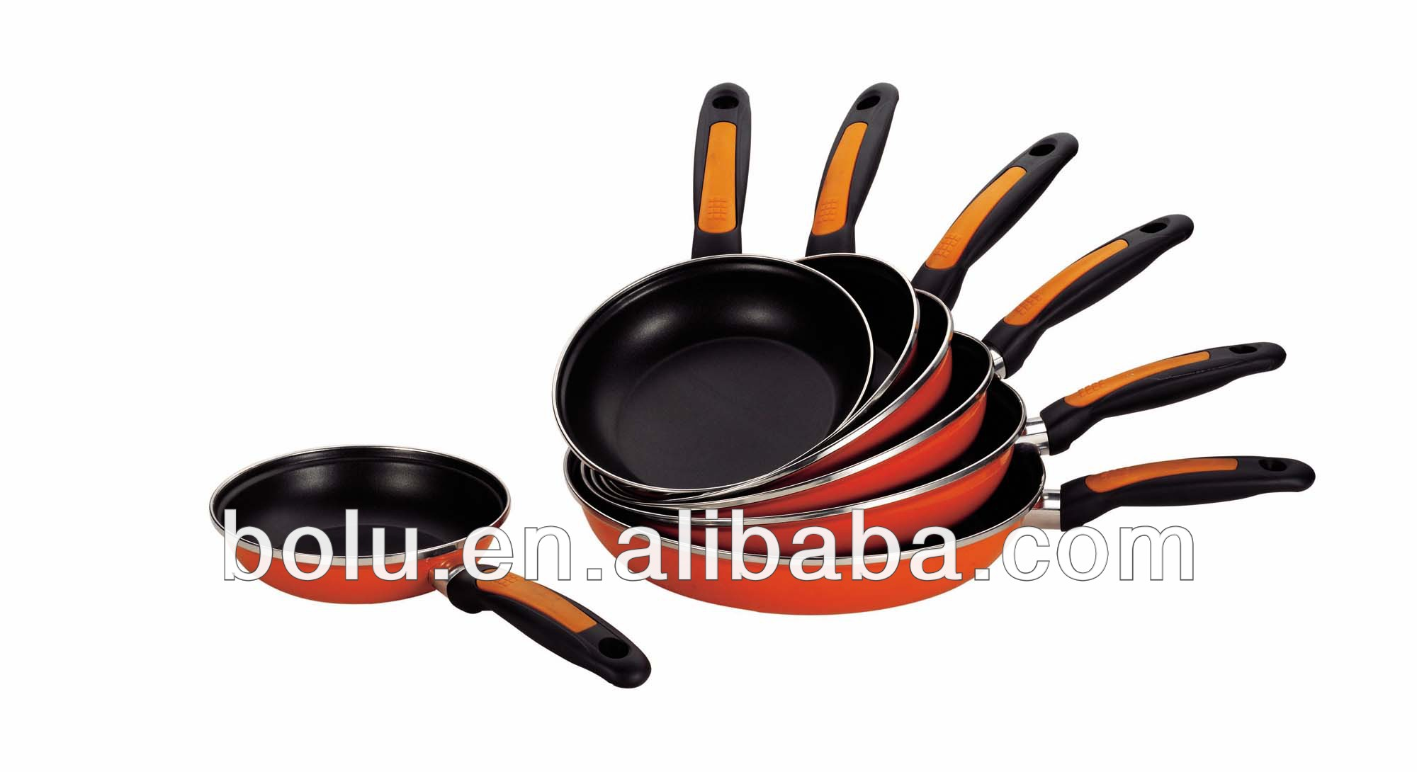 prestige non-stick carbon steel orange enamel fry pan
