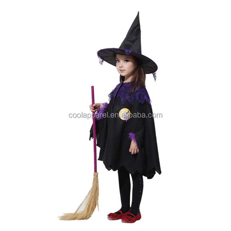 wholesale china supplier girls halloween witch costume for 7 year old