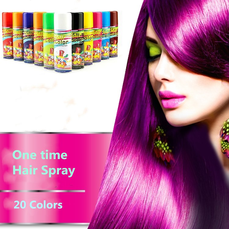 One Time 20 Colors Hair Dye Hair Color Spray Buy Hair Color Spray