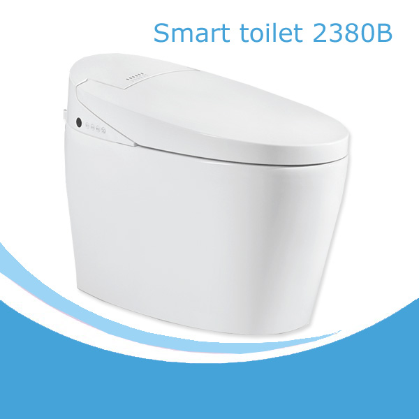 South American style automatic smart toilet without tank