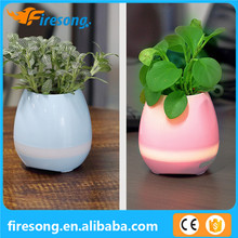 2017 Creative Plastic Flower Pot with Bluetooth Speaker Music LED Flower Pot