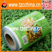 custom food grade plastic barrier bopp film roll for peanut food