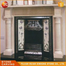 Best Sale Natural Marble Surround Decoration Fireplace Insert