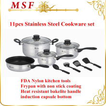 LFGB approved 18/8 stainless steel cookware IN STOCK