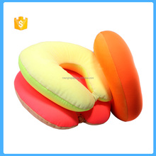 U shape foam particles filling neck pillow for travel sleep rest