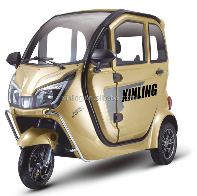 Hot Sale Three Wheel Covered Motorcycle Adult Electric Tricycle Passenger Use For and 60V Voltage closed tricycle