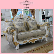 French alibaba floral print leisure fabric sofa
