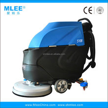 MLEE510B rolling rotary electric floor scrubber dryer samll smart walk behind gym mechanical cleaning equipment