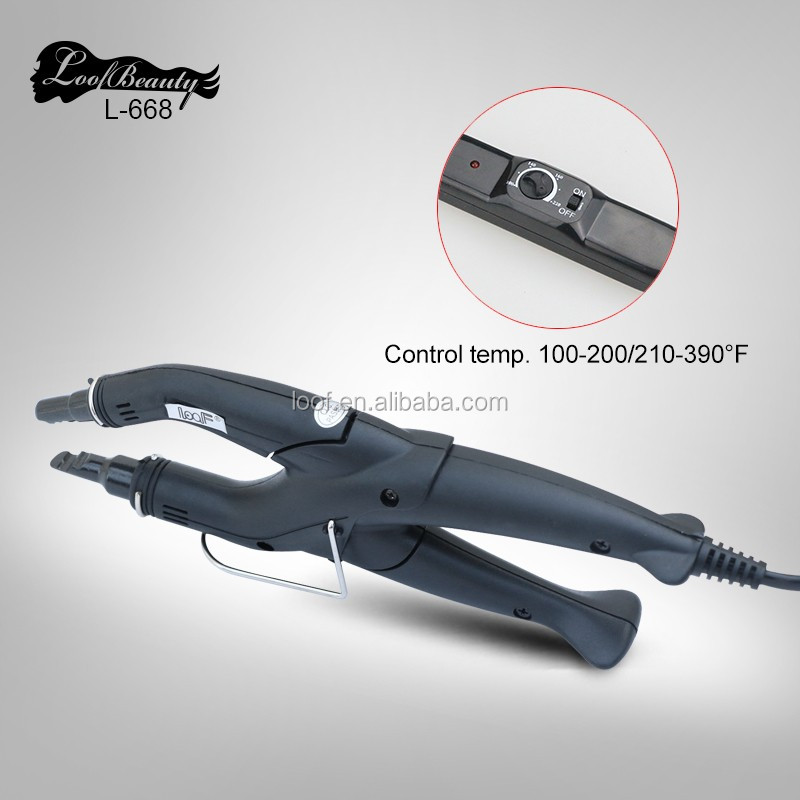 loof proffesional hair styling tools adjustable temperature control hair extension heating iron