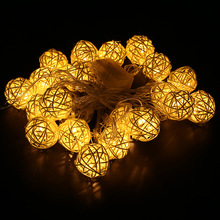 Christmas Decorations High Quality LED Flashing Rattan Ball String For House Ornaments