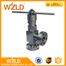 WZLD Manual Control 150Lb-1500Lb Rating Standard ASTM A216 WCB Mini Forged Globe Angle Valve