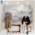 Wholesale Cheap Decoration Artificial Wedding Flowers Backdrop Giant White Paper Flower Wall With freight