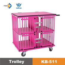 KB-511 Aluminum Light-weighted foldable dog trolly carrier for dogs with four doors