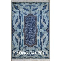 Yilong 4'x6' iran silk carpet luxurious palatial qum rugs 100% silk