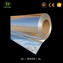 Vapor barrier reflective aluminum foil laminated roll film