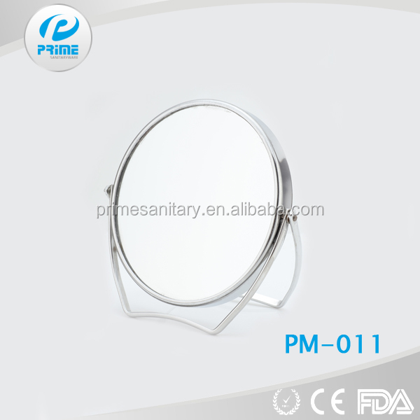 Angle makeup work tool concave glass steel mirror in Jiangmen