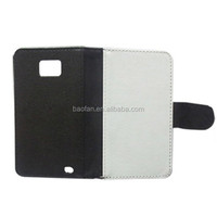 Hot selling sublimation leather wallet flip cover for Galaxy S2