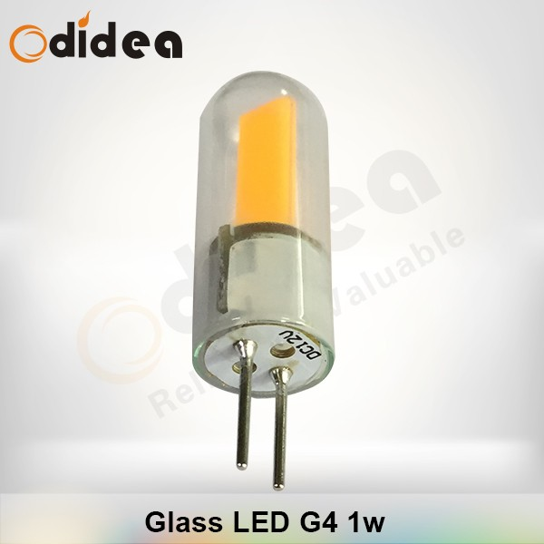dc 12v 1w spot lights led g4 led light fittings with Glass body