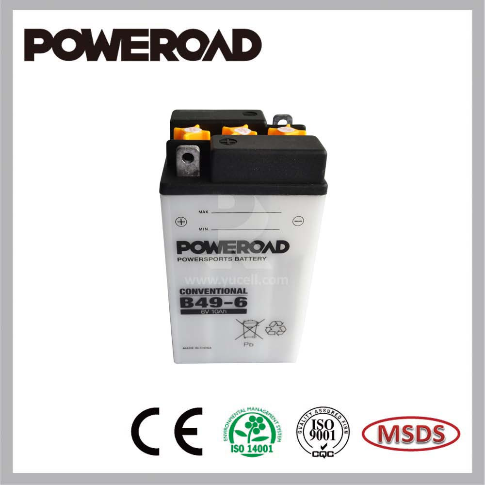 Poweroad Dry Charged Lead Acid Battery for motorcycles B49-6