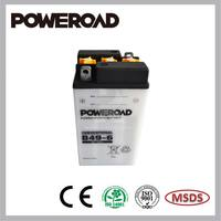 Poweroad Lead Acid Dry Charged battery for motorcycles B49-6