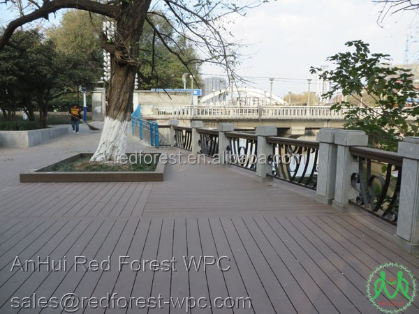 High density HDPE wood plastic composite PE WPC decks