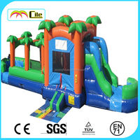 Forest Inflatable castle with slider ,Inflatable combo,bouncy for kids